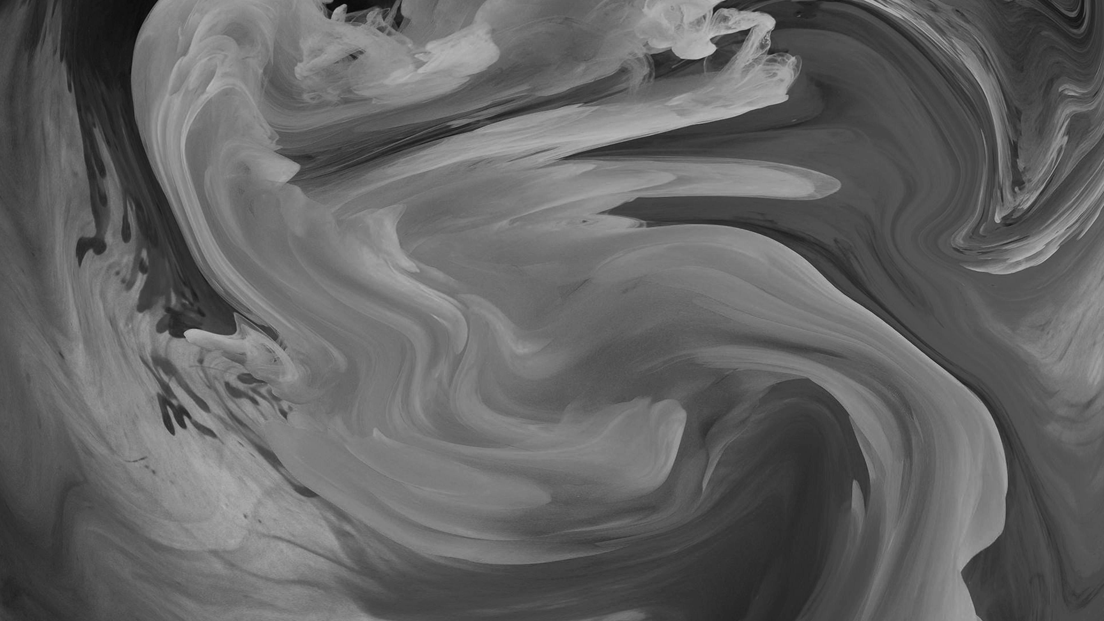 Fall Wallpaper 4k Vl09 Hurricane Swirl Abstract Art Paint Dark Bw Pattern