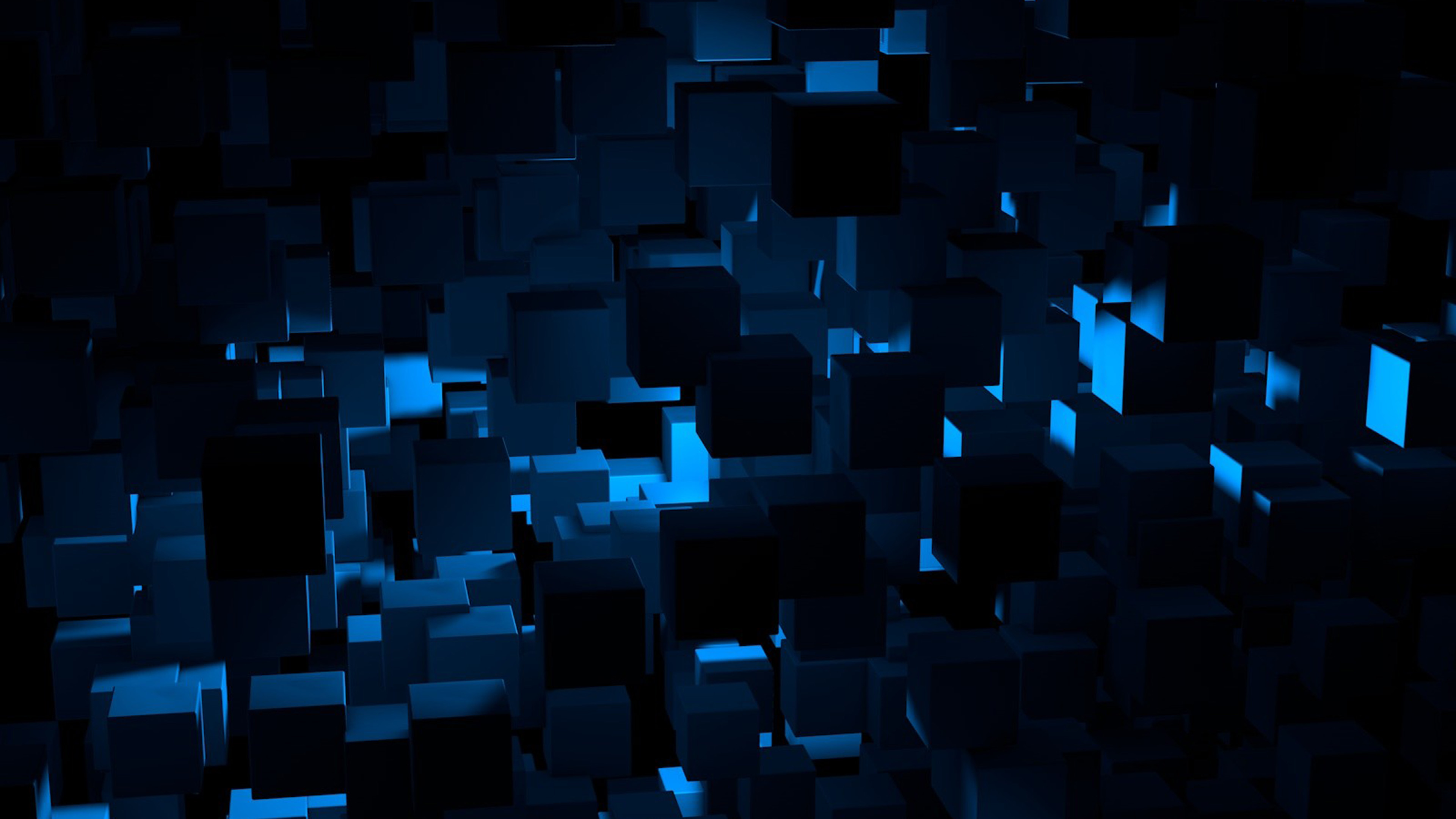 White Wave 3d Wallpaper Vn22 Cube Dark Blue Abstract Pattern Wallpaper