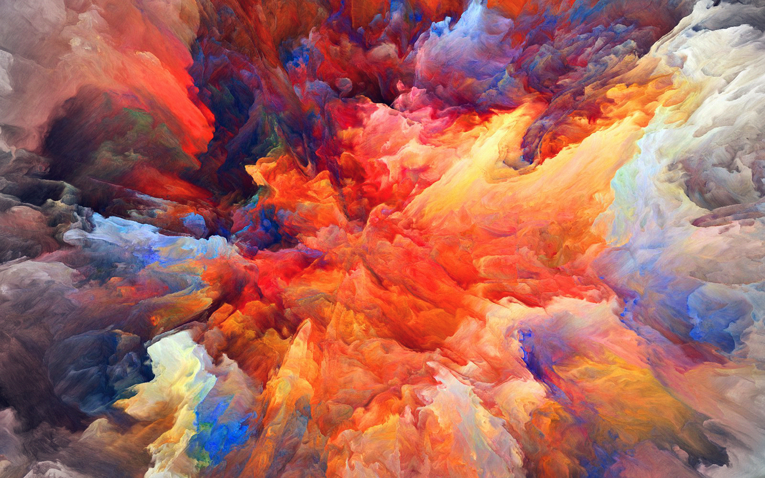 Famous Anime Wallpaper Vq22 Color Explosion Red Paint Pattern Soft Wallpaper