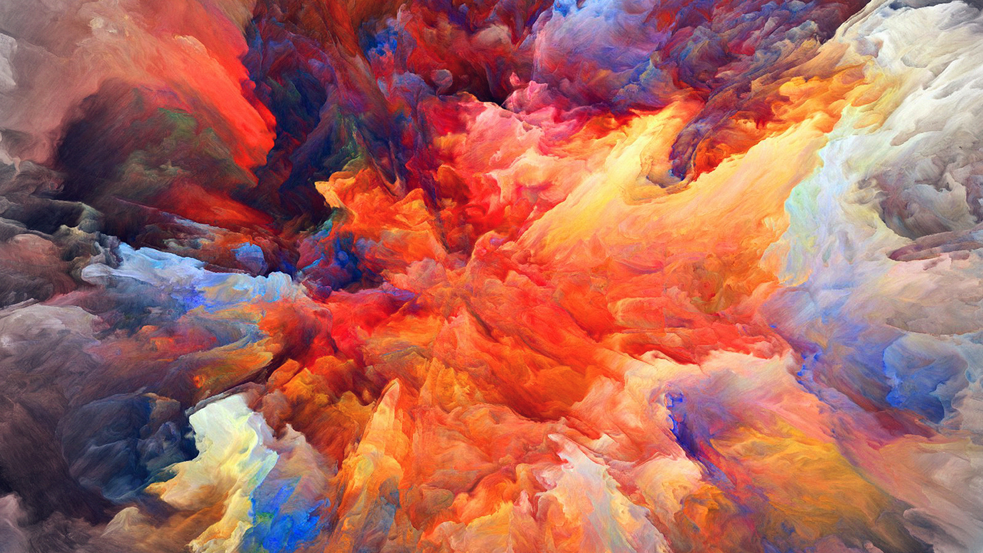 Simple Wallpapers Colors Fall Vq22 Color Explosion Red Paint Pattern Soft Wallpaper