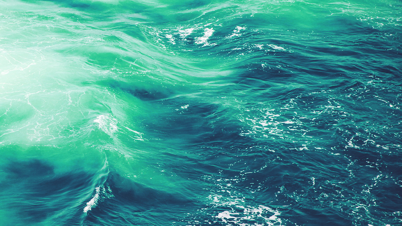 Simple Fall Hd Wallpaper Vq24 Wave Nature Water Blue Green Sea Ocean Pattern Wallpaper