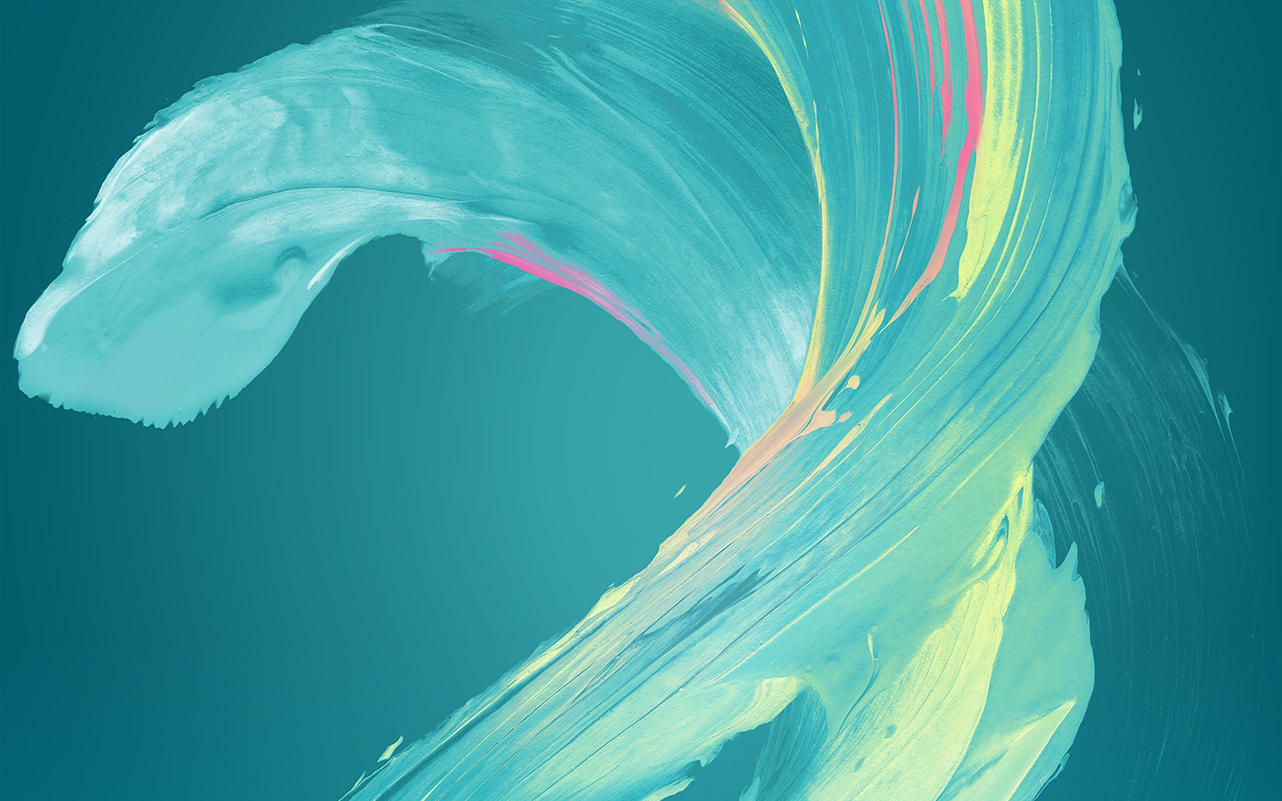 Iphone 5 Wave Wallpaper Vu44 Paint Blue Art Xperia Pattern Wallpaper