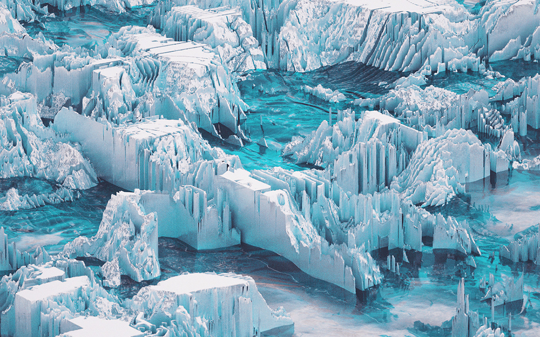 Apple Macbook Wallpaper Hd Vw53 Ice Abstract Water Blue Pattern Background Wallpaper