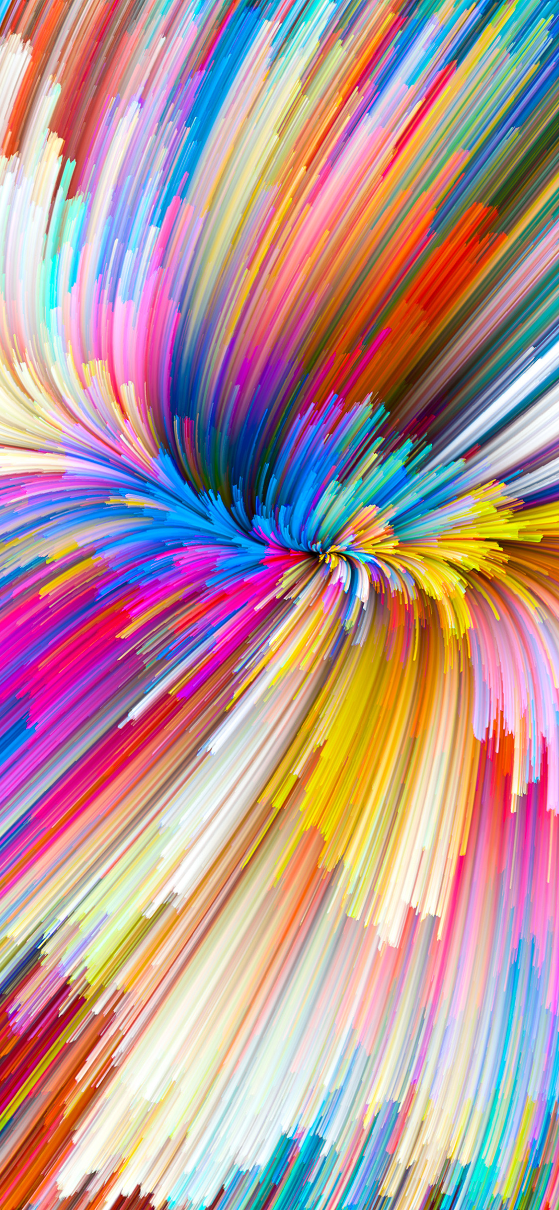 Minimal Wallpaper Iphone Vy07 Color Rainbow Digital Art Pattern Background Wallpaper