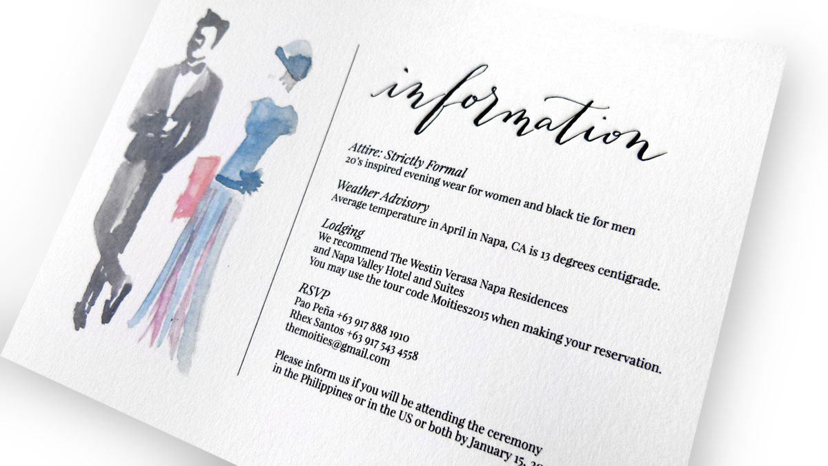 Invitation Wedding Dress Code The Moities Wedding Invitation