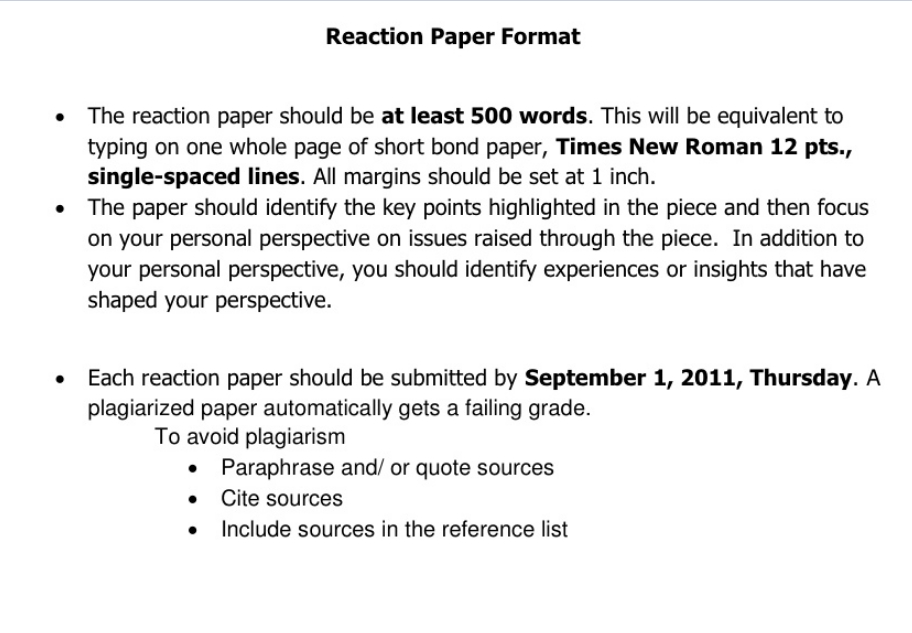 How to Write a Reaction Paper \u2013 What is a reaction paper Paperstime