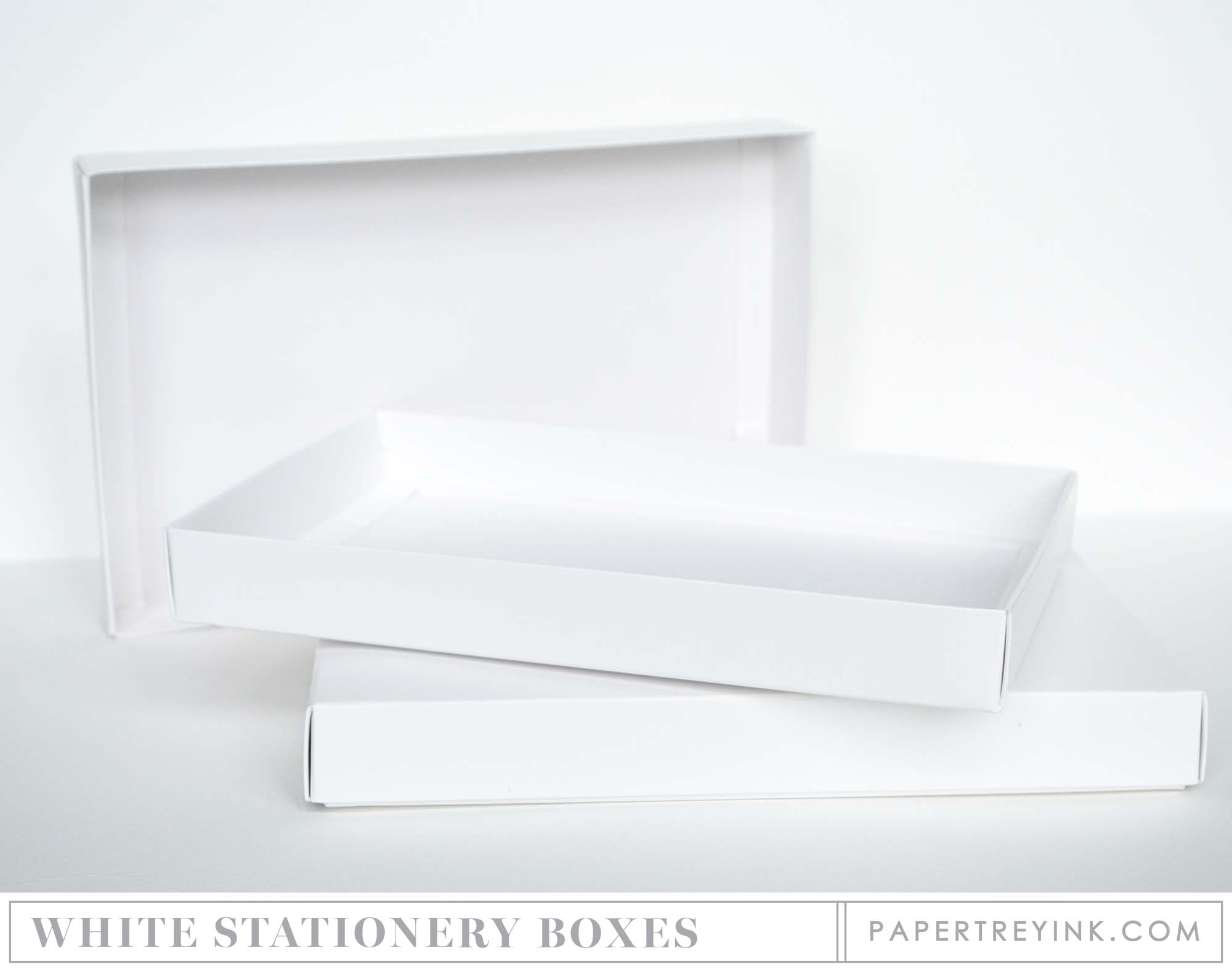 Stationary Boxes Basic White Stationery Box 2 Per Package Papertrey Ink Clear