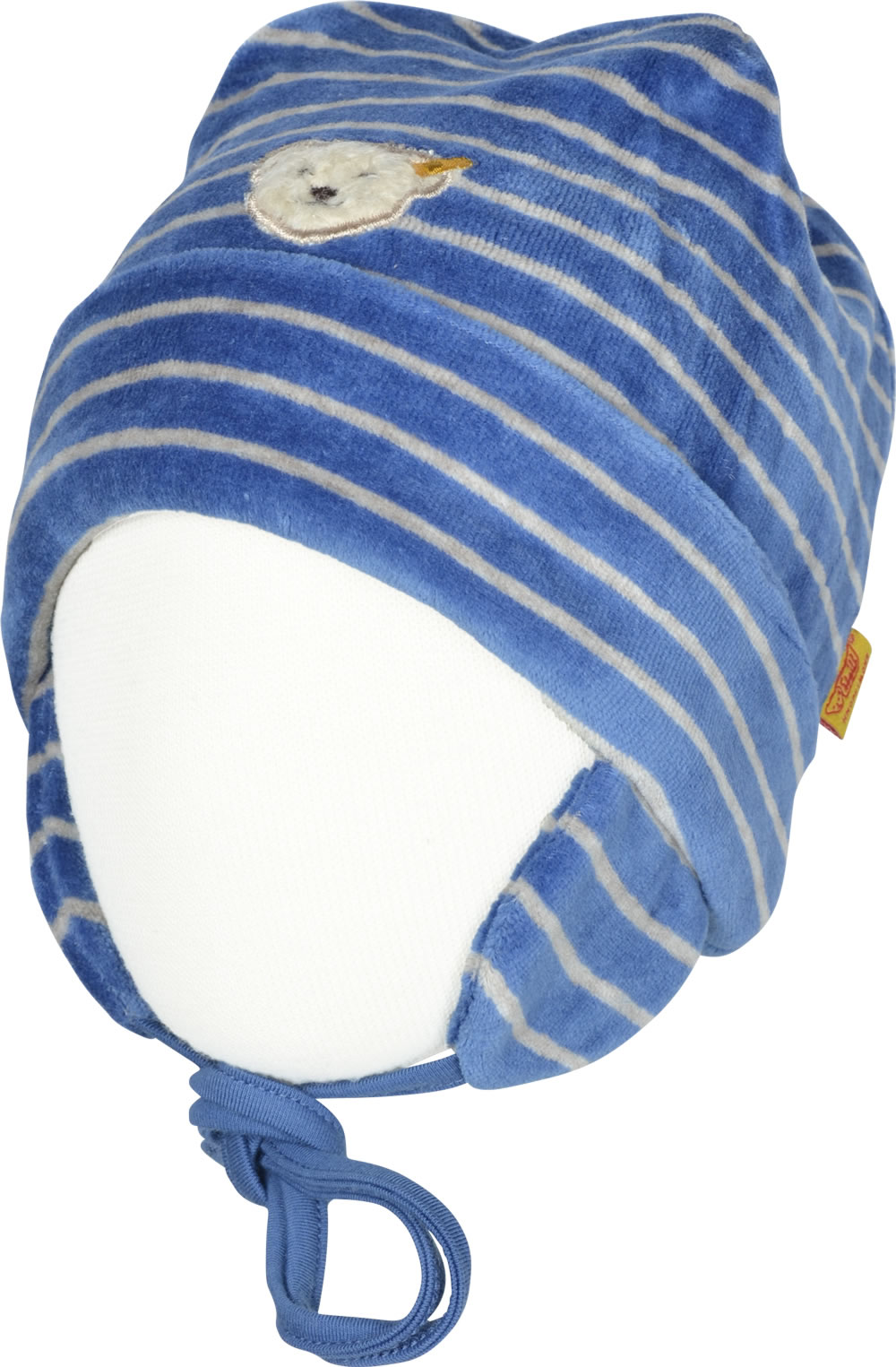 Mütze Baby Baumwolle Steiff Baby Nicky Mütze Winter Color Nicky Federal Blue 6722910 3064