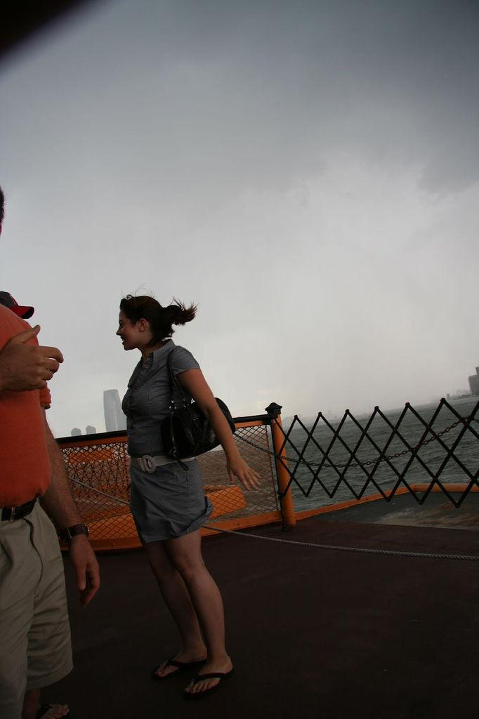 Girl on Staten Island Ferry (Photo: Morten Skogly)