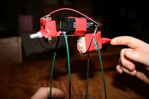 Creating a vibrobot with 9v battery, motor, and potentiometer