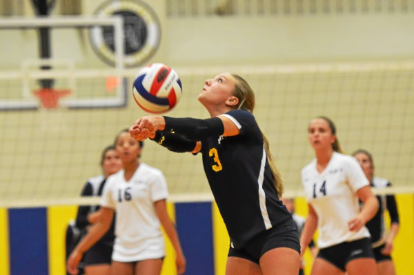 Pope John Paul II's Alyssa Cianciulli hits the ball toward the net during the Golden Panthers' 3-0 victory over Spring-Ford Thursday. (Sam Stewart - Digital First Media)