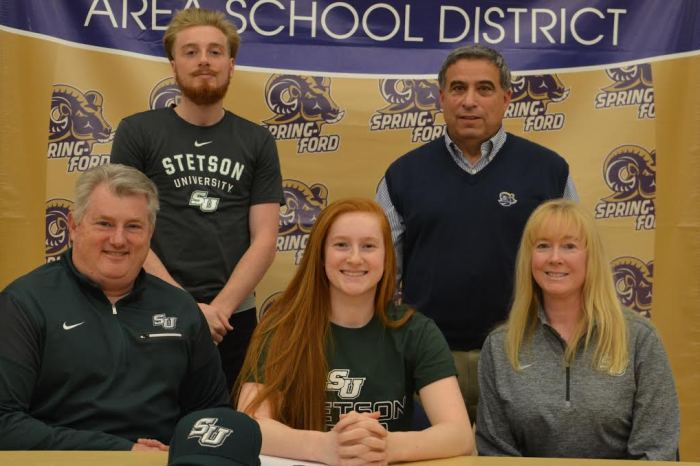 Spring-Ford's Sydney Wagner signs with Stetson University