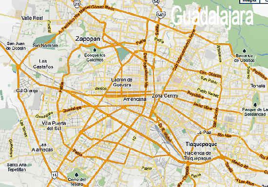 Mapa de Guadalajara | Direcciones en Guadalajara