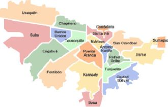 Mapa de Localidades de Bogota