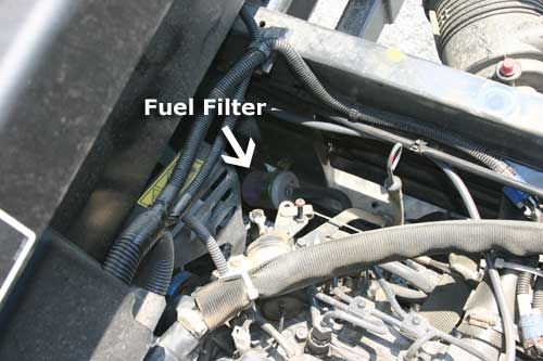 2001 mustang fuel filter changing