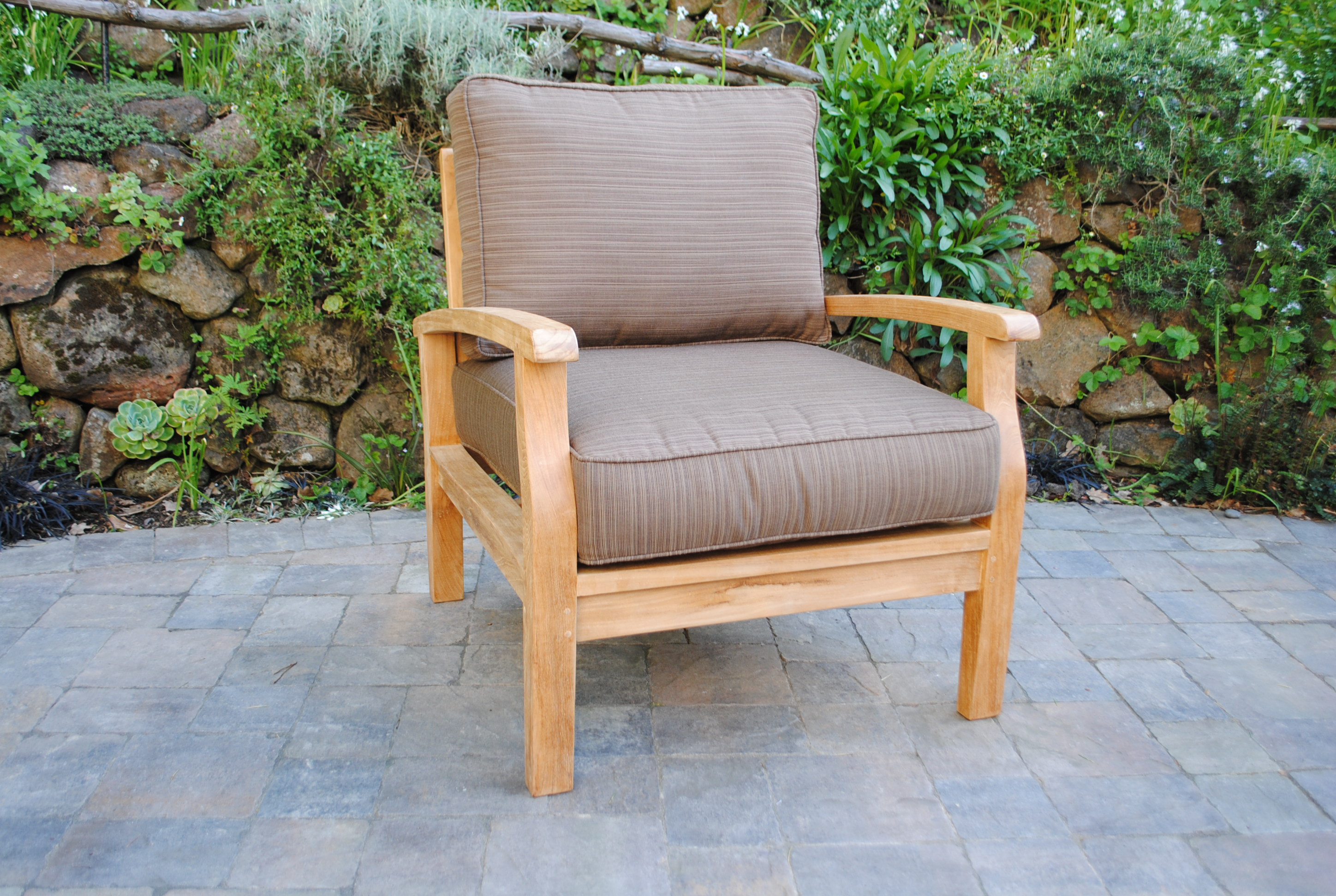 Sonoma Deep Seating Lounge Chair With Sunbrella Cushions Paradise Teak