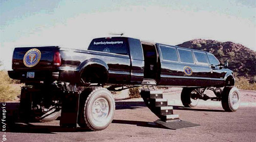 Weird limo on the high heels