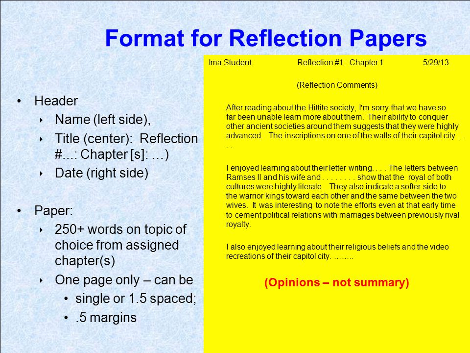 Crash reflection paper College paper Sample - March 2019 - 1846 words