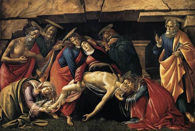 Επιτάφιος Θρήνος. Σάντρο Μποτιτσέλλι. 1490-92.