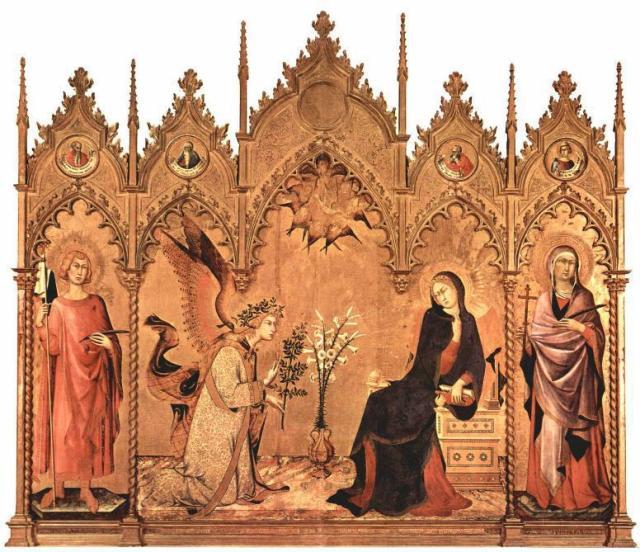 Simone Martini 1333. Galleria Uffizi. Φλωρεντία.