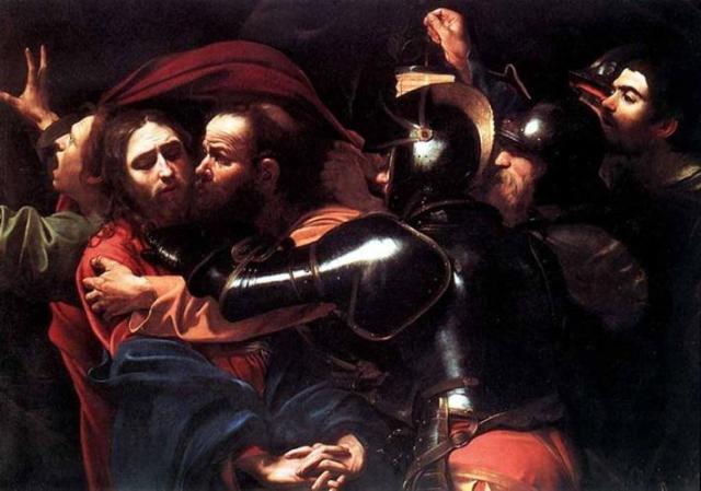 Καραβάτζιο. «Το φιλί του Ιούδα». Προδοσία και σύλληψη.