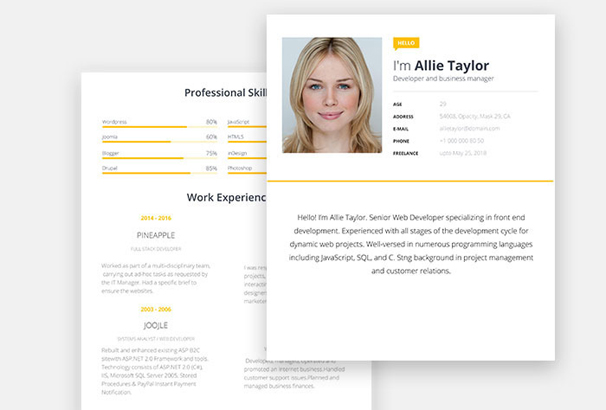40+ Free Resume Templates 2017 - Professional  100 Free - web resume