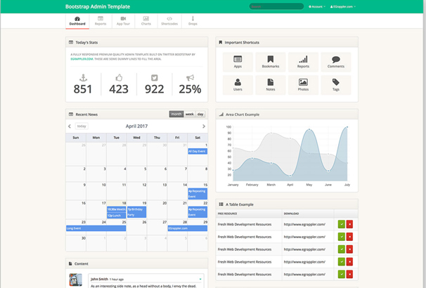30+ Best Free Bootstrap Admin Templates 2017 - bootstrap admin template