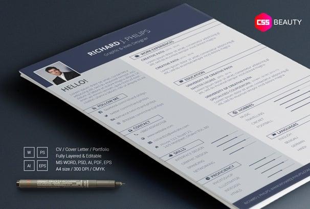 40+ Free Resume Templates 2018 - Professional  100 Free
