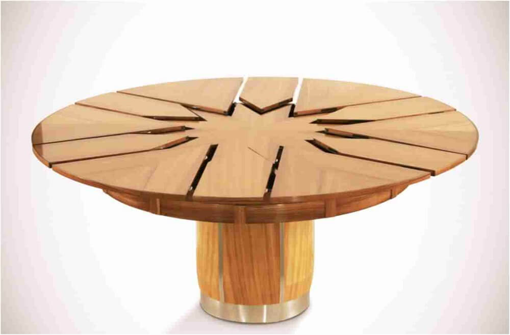 Transforming Furniture Parametric House - Table Salle A Manger Ronde Laque Blanc