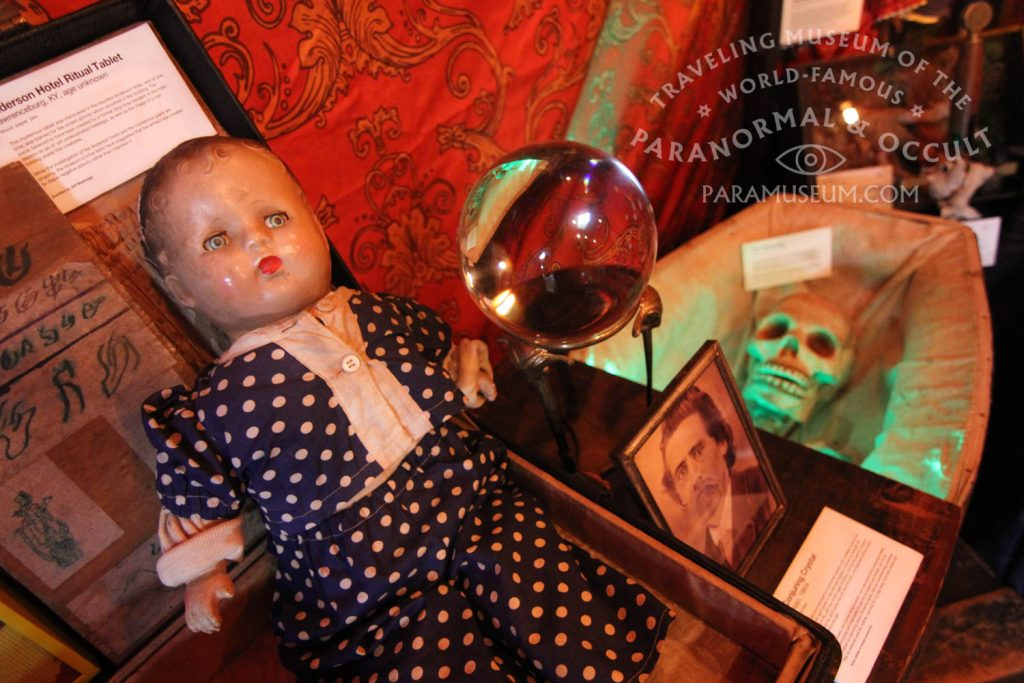 Ruby the Haunted Doll and the mysterious Conjuring Crustal await visitors..