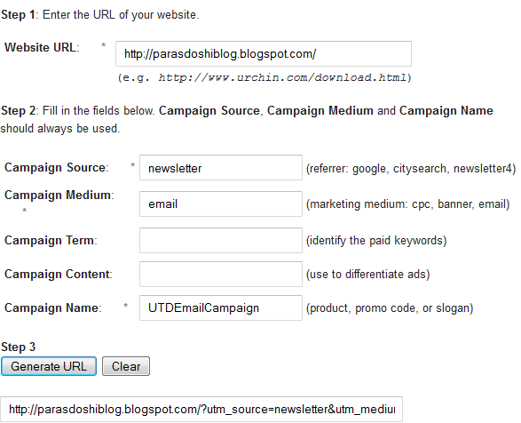 google URL builder google analytics