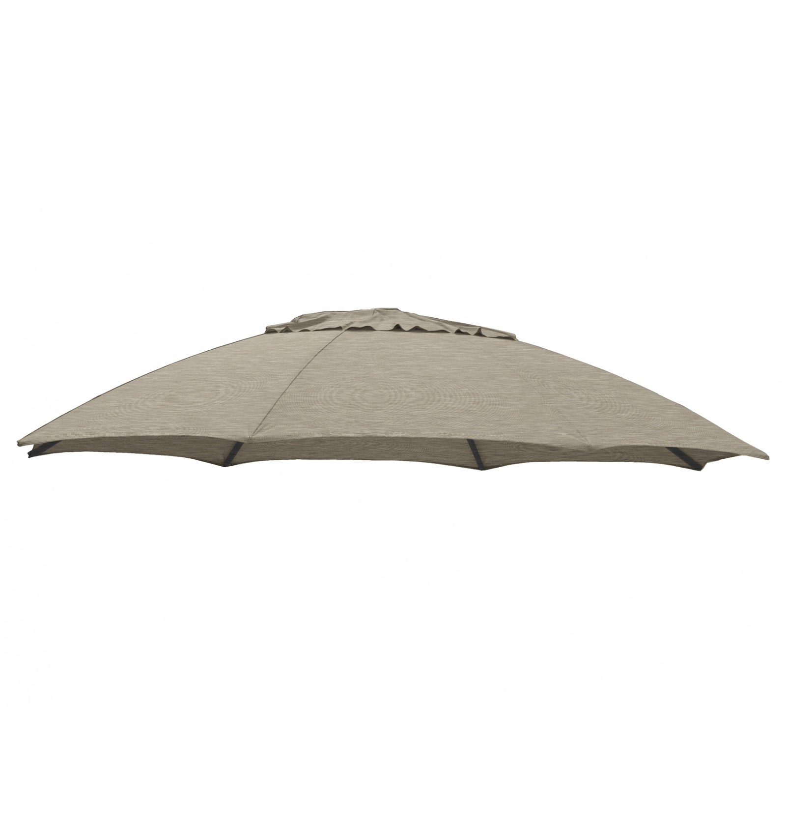 Parasol Taupe Olefin Taupe Replacement Canvas For Easy Sun Parasol 375