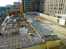 Vue totale du chantier Parc 17, de haut