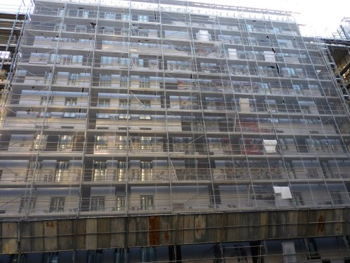 Bardage façade Nord, bâtiment B, Parc 17
