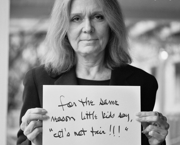 steinem its not fair sign