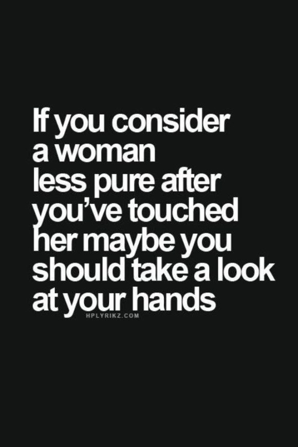 women and virginity quote