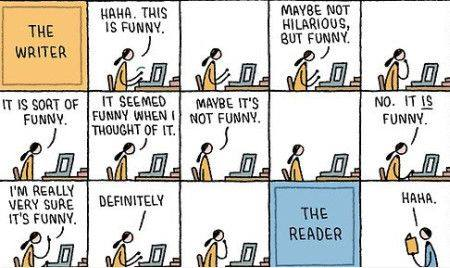 the different words of writer and reader