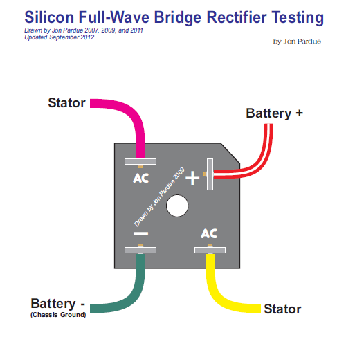 110 Volt Ac Wiring Colors Silicon Bridge Full Wave Rectifier Testing Home Of The