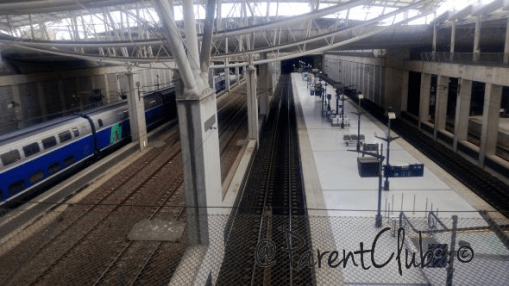 Paris Charles de Gaulle Train Station tracks