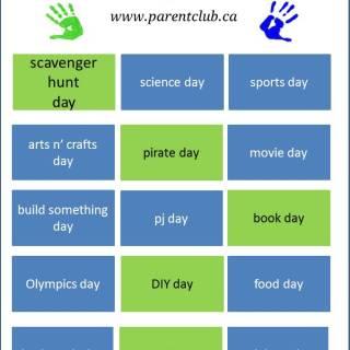 15 Activity and School Break Theme Day Ideas for Kids, camp theme ideas, boredom busters via www.parentclub.ca
