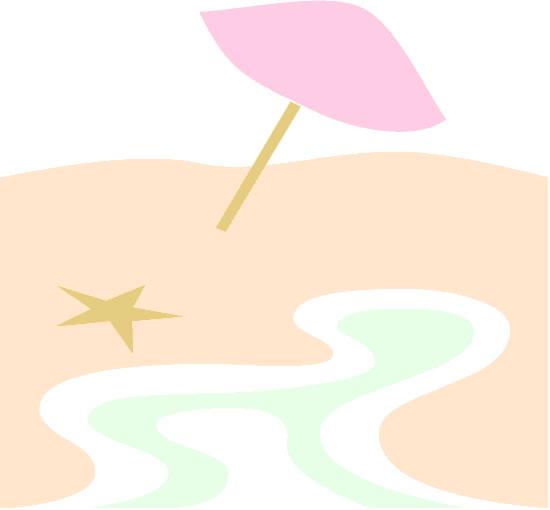 Beach shore and umbrella background - free printable scrap book graphics
