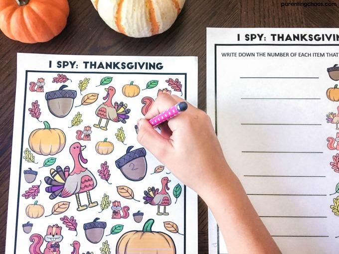 Free Thanksgiving I Spy Printable ⋆ Parenting Chaos