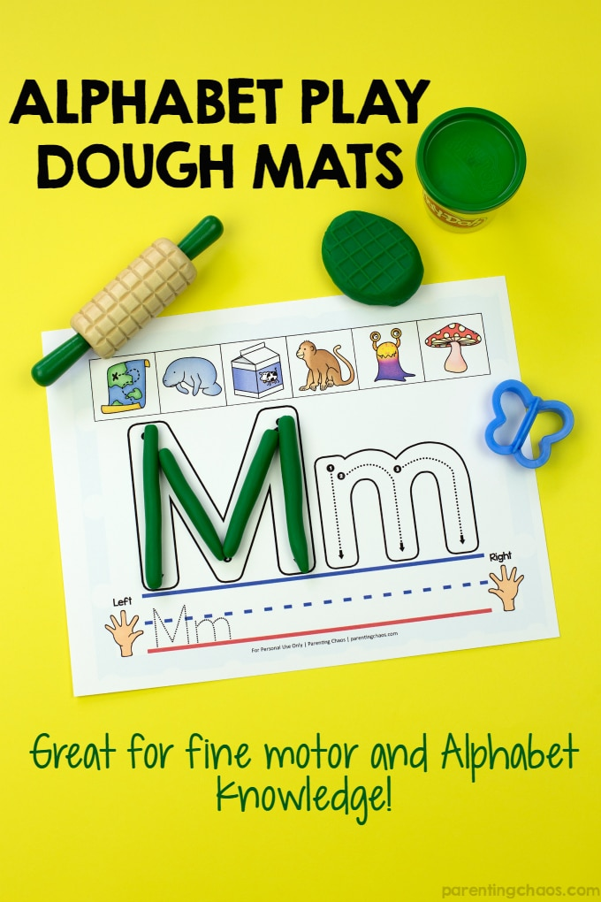 Alphabet Play Dough Mats (with Free Printable Included)