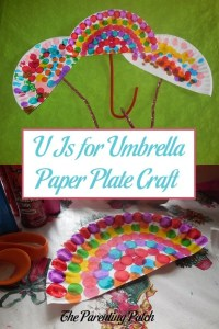 U Is for Umbrella Paper Plate Craft | Parenting Patch