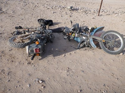 Bike's in Pieces!