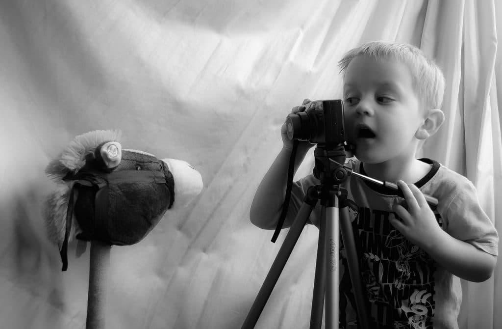enfant caméra photo
