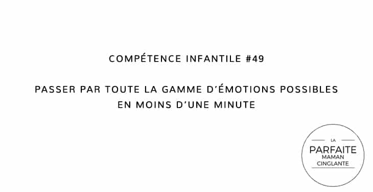 COMPETENCE INFANTILE 49 GAMME EMOTIONS