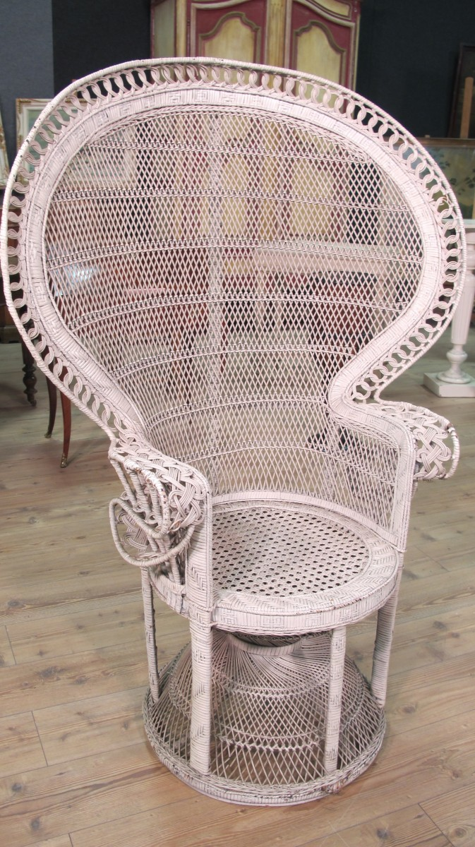 Interieur Style Vintage Details About Armchair Wicker Rattan Furniture Antique Style Vintage Chair Outdoor Antique