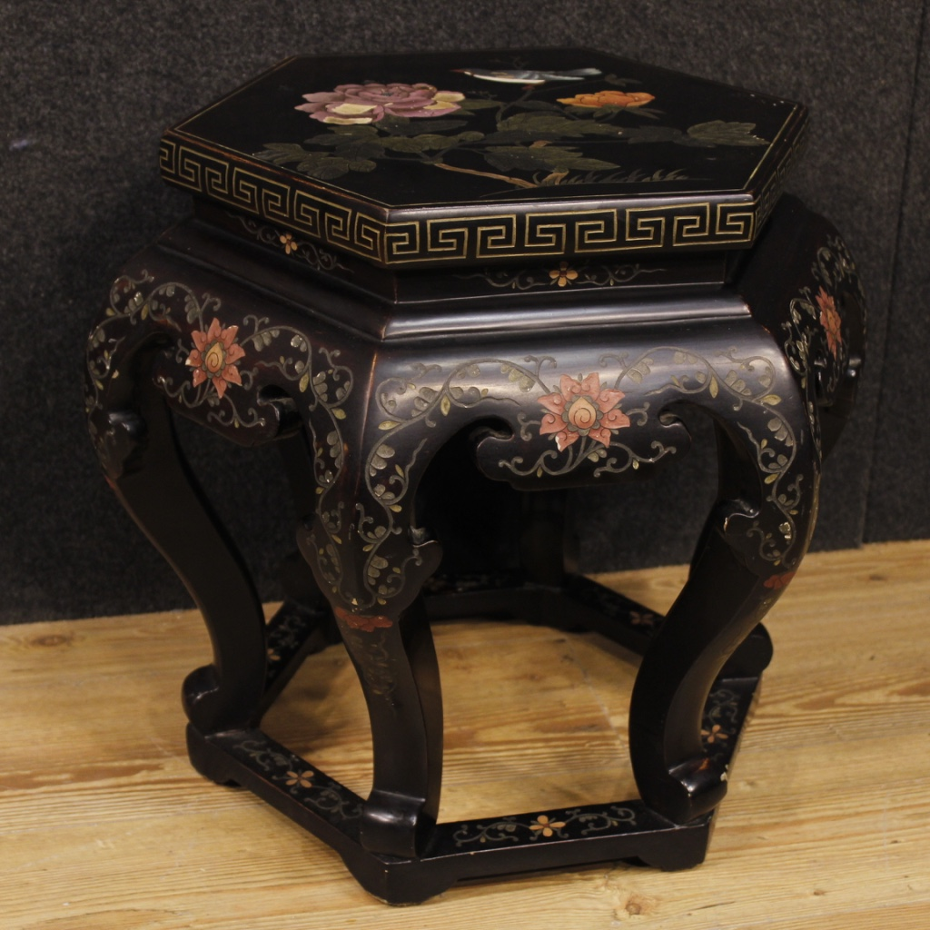 Couchtisch Asia Style Details About Side Table Chinoiserie Furniture Lacquered Paint Wood Antique Style Living Room