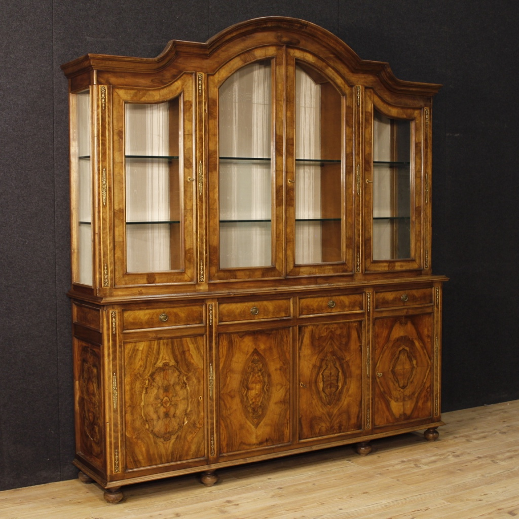 Sideboard Vitrine Details About Bookcase Showcase Sideboard Antique Style Furniture Italian Living Room Wood